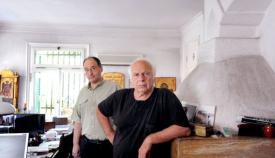 Ο σκηνοθέτης Νίκος Κούνδουρος με τον συνεργάτη μας Γιώργο Πισσαλίδη.