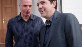 Γιάννης Βαρουφάκης και Αλέξης Τσίπρας.
