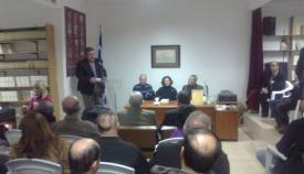 16.01.2016: Ο Γιάννης Κουριαννίδης προλογίζει την κοπή της παραδοσιακής βασιλόπιτας.