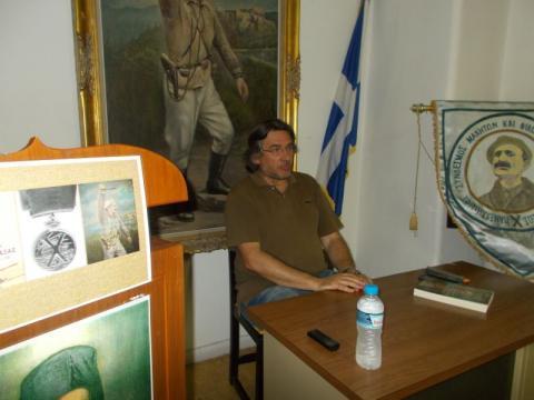 03.07.2017: Ο ομιλητής Σπύρος Δημητρίου.