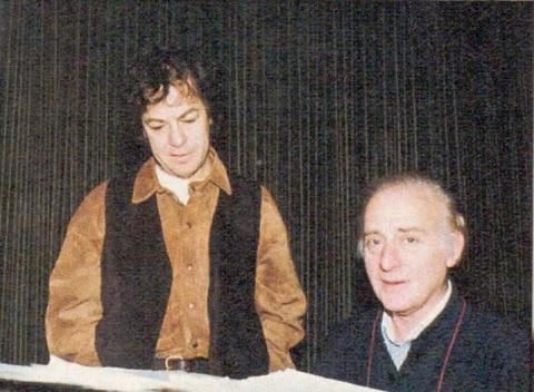 Γιάννης Πάριος και Χατζηνάσιος στην ηχογράφηση της «Επίθεσης Αγάπης».