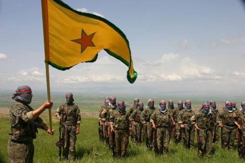 Μαχητές της κουρδικής οργάνωσης YPG στην Συρία.