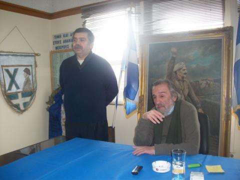 07.02.2016: Ο Ιωάννης Γιαννάκενας προλογίζει τον συγγραφέα Πέτρο Μακρή-Στάικο.