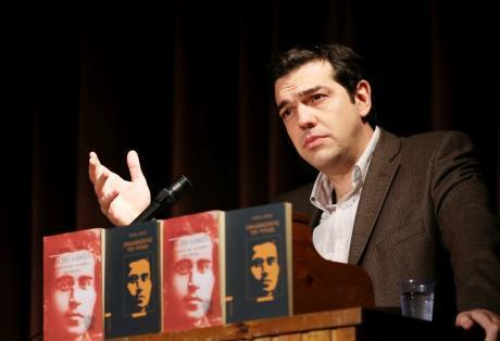 Ο Αλέξης Τσίπρας σε παρουσίαση βιβλίου για τον Ιταλό κομμουνιστή διανοούμενο Αντόνιο Γκράμσι.
