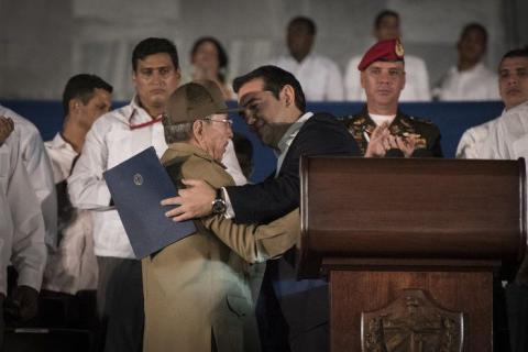 Ραούλ Κάστρο και Αλέξης Τσίπρας.