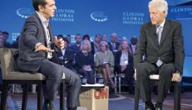 Αλέξης Τσίπρας και Μπιλ Κλίντον.