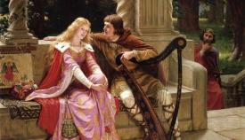 Τριστάνος και Ιζόλδη σε πίνακα του Έντμουντ Λέιτον (1902).
