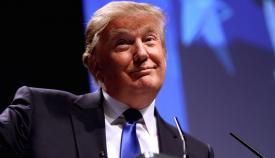 Ο Ντόναλντ Τραμπ, υποψήφιος για το προεδρικό χρίσμα του Ρεπουμπλικανικού Κόμματος.